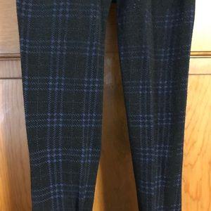 Pants - Black & Blue Plaid Tights